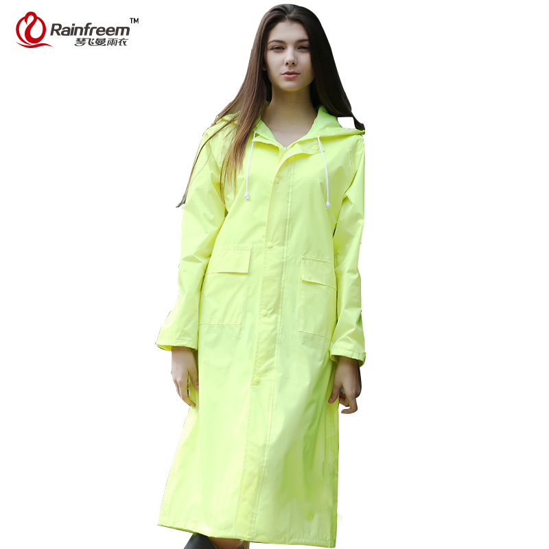 Impermeable Impermeable Rainfreem Mujeres / Hombres Impermeable Trench Coat Poncho Impermeable de doble capa Mujeres Impermeable Rain Gear Poncho