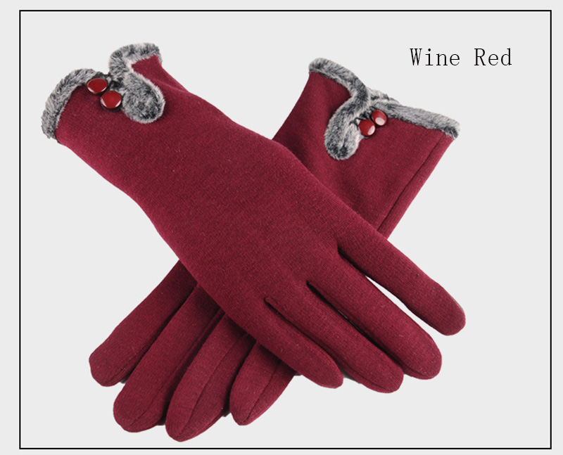 Comfortable and Warm Non Inverted Touch Screen Gloves for Women with Sensitive Touch Screen Function without Hand Exposing to Cold 21