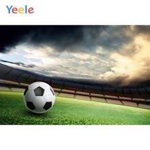 Yeele Football Soccer Field Stadium Playground Backgrounds Vinyl Cloth Baby Computer Printed Poster For Photo Studio Backdrops soap stadium inflatable water soccer field inflatable football field with