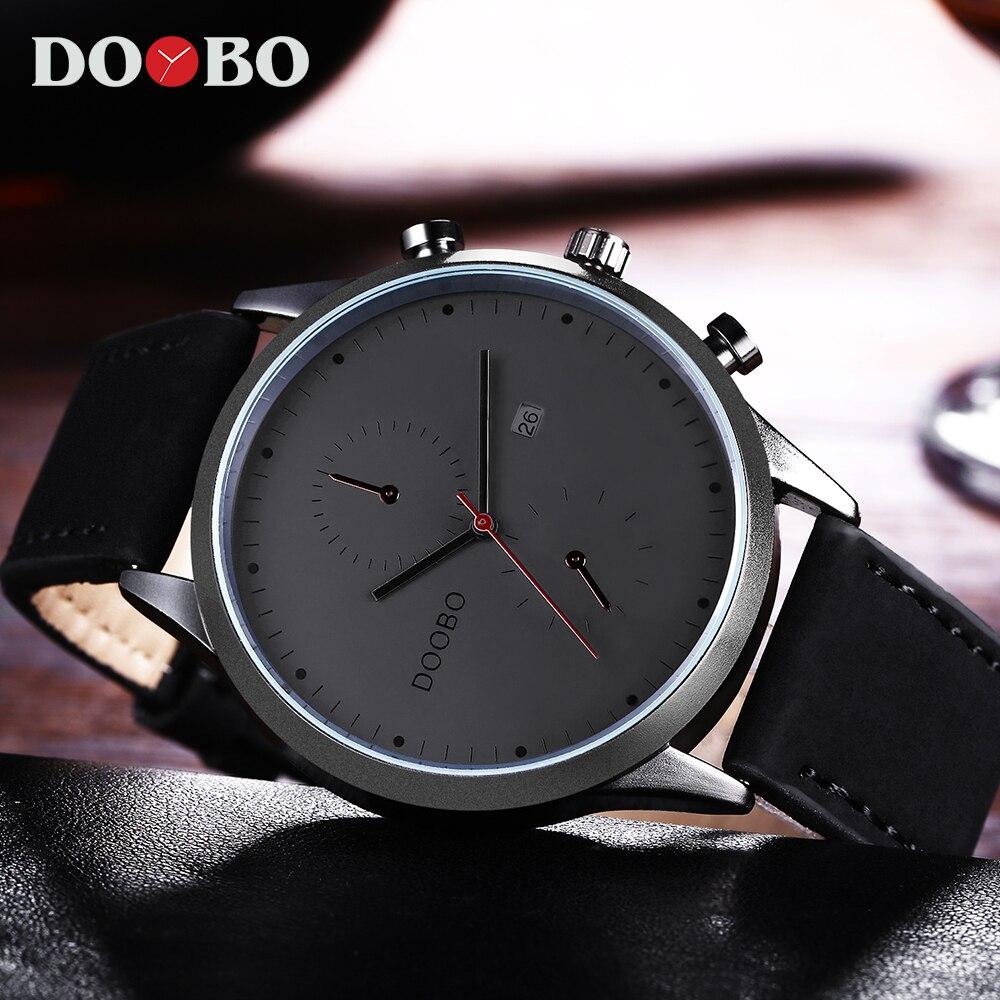 DOOBO Sport Quartz Watch Men Top Brand Luxury Famous Fashion Leather Wrist Men Watch Male Clock Hodinky Relogio Masculino