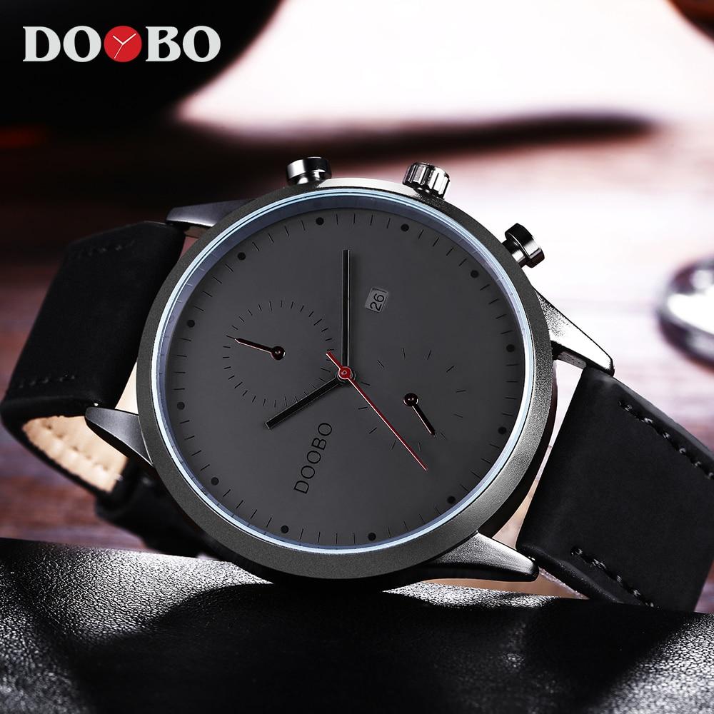 Doobo deporte reloj de cuarzo hombres Top marca de lujo de moda de cuero reloj de los hombres reloj masculino hodinky Relogio Masculino