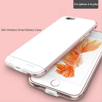 For iPhone 6 Plus Battery Case Ultra-thin metal Power Case For iPhone 6 Plus battery Case 6S Plus 5.5 Inch Charger Cover Bank iphone 6