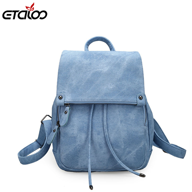 d734b4b73 2018 College Wind Backpack Shoulder Bag PU Leather Women's bag fashion  ladies backpack Mochila Escolar School Bags For Teenagers