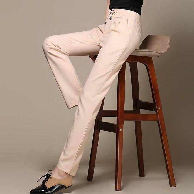 2017 New Fashion Autumn Women Long Trousers Casual Harem Pants Women Solid Color Cotton Linen Plus Size Pants 4 Colors C471