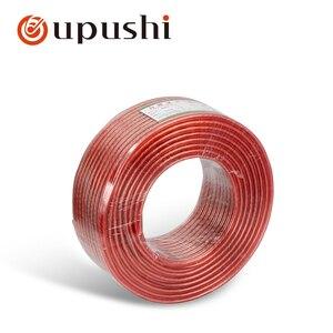 Oupush i haut-parleur câble qualité aluminium amplificateur haut-parleur fil haut-parleur câble connecteurs