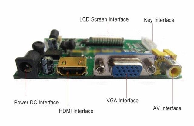 7inch HD LCD Display Screen Hohe Auflösung Monitor Fahrer Board Control HDMI VGA Für Lattepanda Raspberry Pi Banana Pi