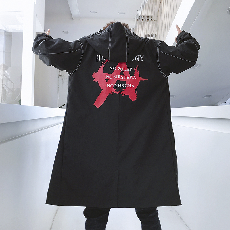 Hip Hop pardessus élégant hommes Long Trench Coat Europe Trenchcoat veste coupe vent mâle manteau Trench taille américaine XS XL-in Trench from Vêtements homme on AliExpress - 11.11_Double 11_Singles' Day 1
