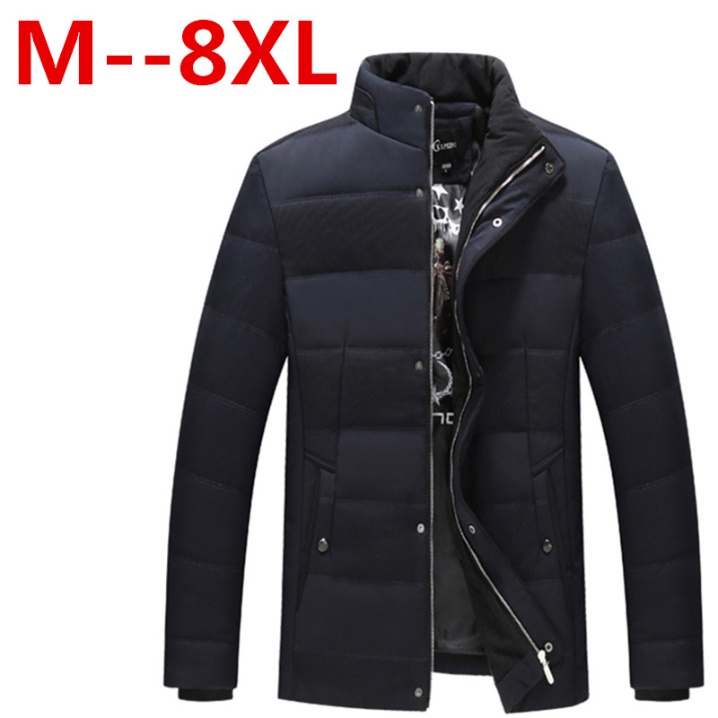 Plus size 10XL 8XL 6XL 5XL Polyester Winter Jackets And Coats Thick Warm Fashion Casual Handsome Young Men Parka Fit Snow Cold e artist men s long winter jacket velvet padded jackets trench coats parka thick fit casual outdoor black wine plus size 5xl a65