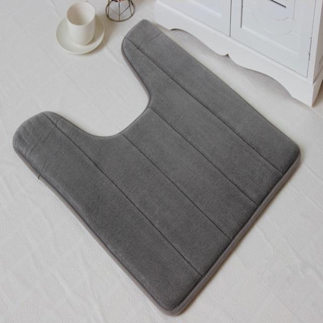 Corallo Pile Bagno Tappeto a Forma di U Memory Foam Bath Mats Tappeto antiscivolo Pavimenti Tappeti Per Bagno Dell'hotel igienici Home Decor 1B