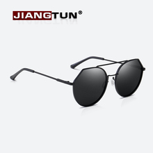 JIANGTUN Fashion Round Sunglasses Women Polarized Brand Designer Retro Double Bridge Female Sun Glasses Feminino UV400