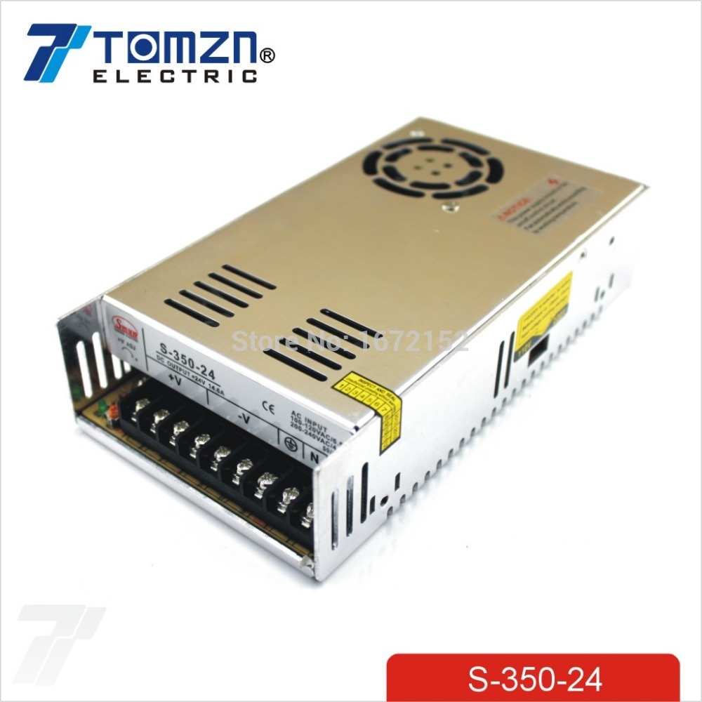 350W 24V 14.6A Single Output Switching power supply AC TO DC meanwell 12v 350w ul certificated nes series switching power supply 85 264v ac to 12v dc