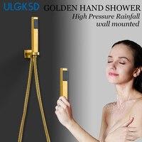 ULGKSD Free Shipping Hand Shower Head W/ Shower Hose Bathroom Accessories Para Bath Water Filter Mixer Taps Plastic Spray