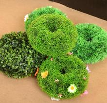 12cm Diameter Artificial Topiary Hollow Balls With Flowers Outdoor Hanging Baskets Grass Lawns Garden Floor Decoration
