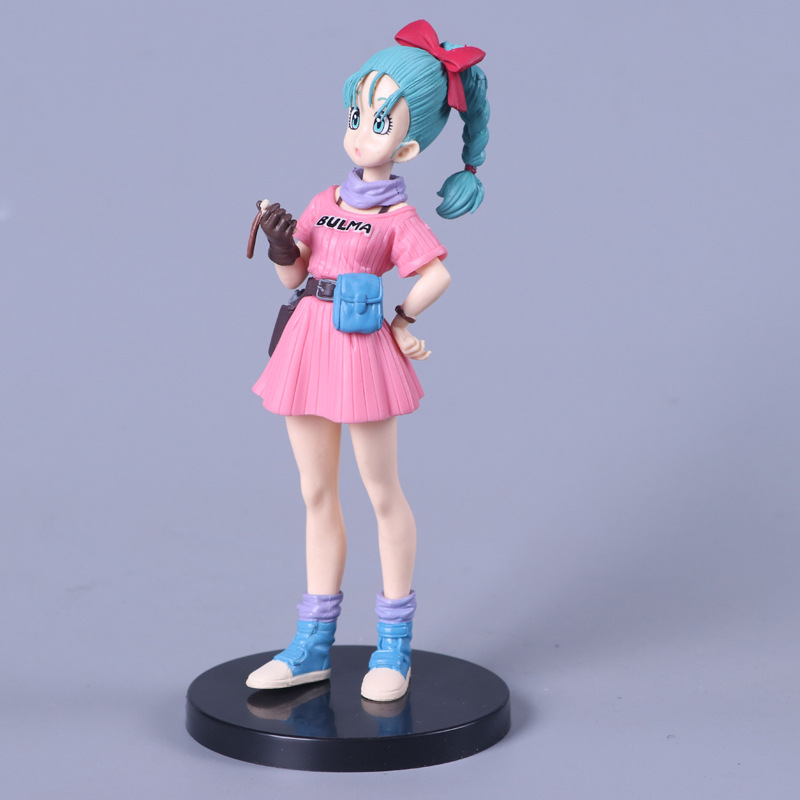 Anime Dragon Ball Bulma Pvc Action Figure Toy Cartoon Dragon Ball Bulma Display Juguetes Collection Children Birthday Gift in Action Toy Figures from Toys Hobbies