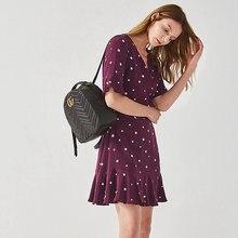 Женское шелковое платье с принтом повседневное стильное мини