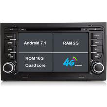 Android 7.1 Car DVD Player For Audi A4 S4 2002-2008 Car radio gps navigation car stereo tape recorder 2G RAM 3G/4G WIFI BT SWC