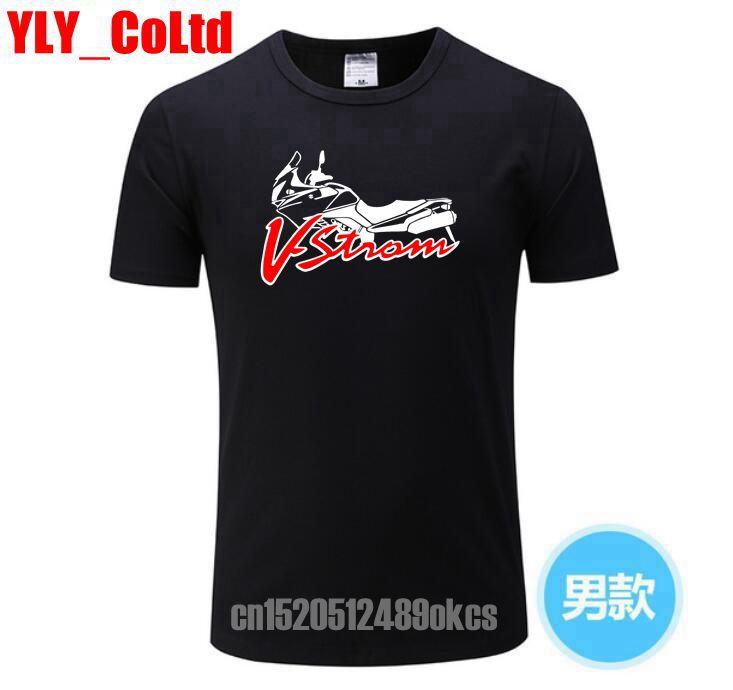 Fashion Men's   T     Shirt   Suzukis V-strom DL 650 Motorsport Team Logo   T  -  shirt   Men Cotton Short Sleeve   T     shirts   High Quality   T