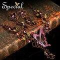 Especial 50% de desconto roxo borboleta pingente Chunky colares cadeia de flor gota brincos frete grátis liga conjuntos de jóias TZ141104