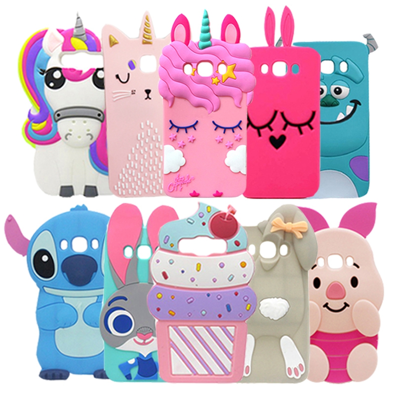 For <font><b>Samsung</b></font> Galaxy <font><b>J7</b></font> 2016 Case Cover Cute Unicorn Rabbit Cat Stitch Bear <font><b>3D</b></font> Soft Silicone Case For <font><b>Samsung</b></font> <font><b>J7</b></font> 2016 J710 J710F image