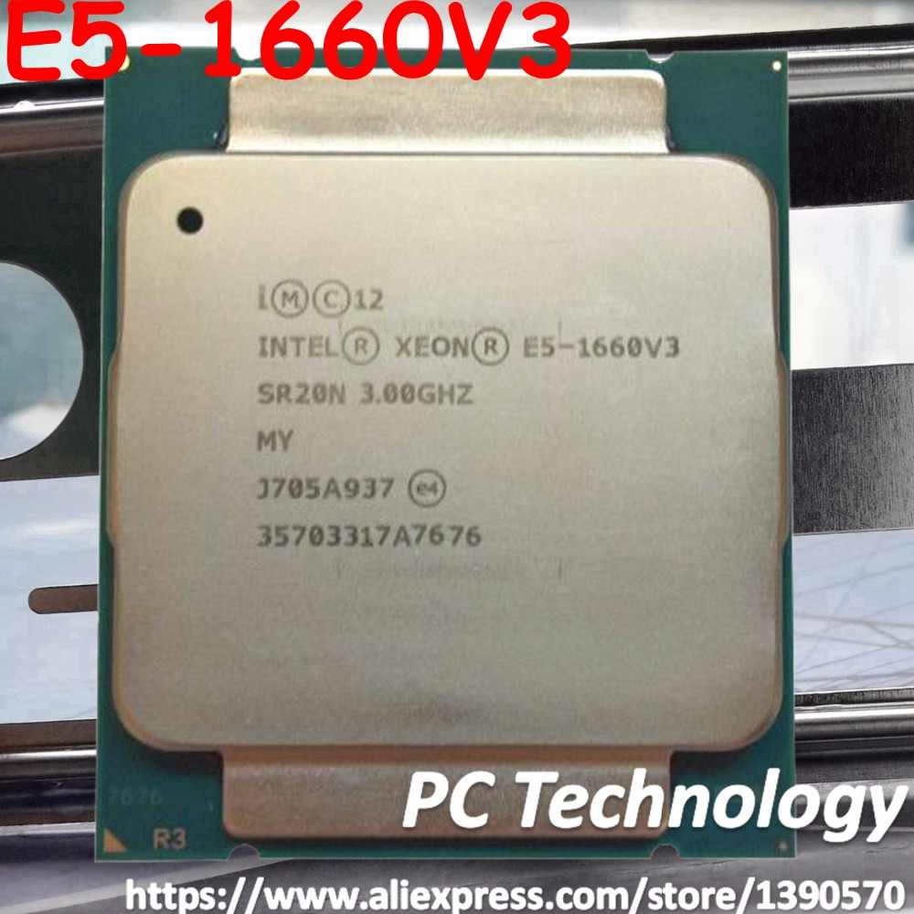 E5-1660V3 Original Intel Xeon QS Version E5 1660V3 3.0GHZ 8-Core 20MB SmartCache 140W E5 1660 V3 DDR4 1866MHz FCLGA2011-3