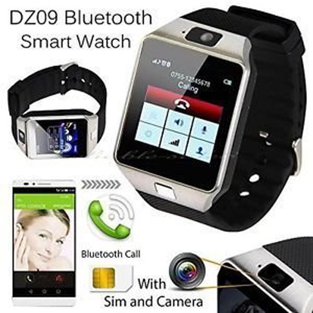 Bluetooth Smart Watch DZ09 Relojes Smartwatch Relogios TF SIM Camera for  IOS iPhone Samsung Huawei Xiaomi Android Phone 4b5a4129d7a3
