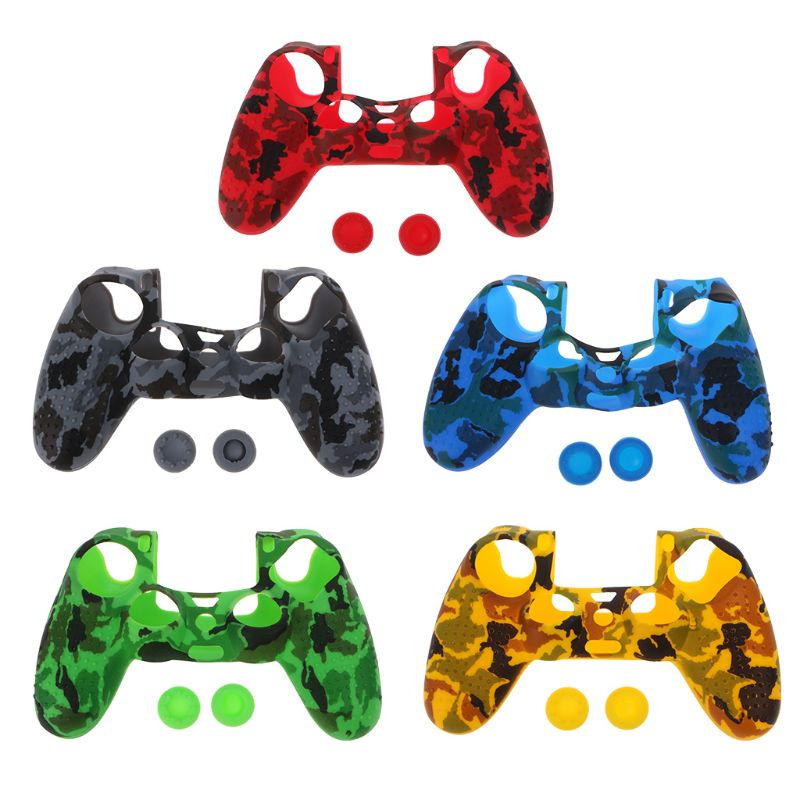 1 Set Protective Cover Thumb Stick Grips Anti-Slip Cap Dustproof Game Accessories for Sony PlayStation 4 PS4 SLIM PRO Controller image