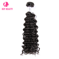 Hot Beauty Peruvian Deep Wave Human Hair Weave Bundles 10 26 inch 1 Piece 100% Remy Hair Extension Can Buy 3 4 Bundles