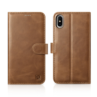 Icarer Genuine Leather Wallet Case For iPhone X Vintage Book Flip Card Holder Cases For Apple iPhone X 2in1 Magnetic Back Cover