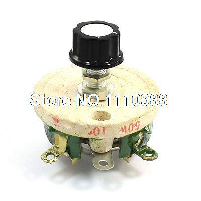 Wirewound Ceramic Potentiometer Variable Rheostat Resistor 50W 100 Ohm цена