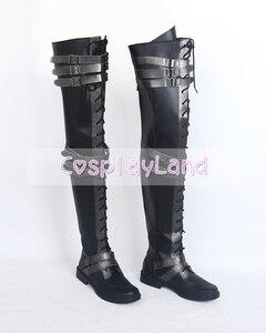 Image 4 - Final Fantasy XV Crowe Altius Cosplay çizmeler ayakkabı Anime cadılar bayramı partisi Cosplay çizmeler Custom Made yetişkin kadınlar için uzun ayakkabı