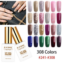 RS Kuku 15 Ml Kuku Gel Polandia UV LED Warna Gel Varnish 308 Warna #241-308 Gel Lacquer manicure Set Gel Pernis (5)(China)