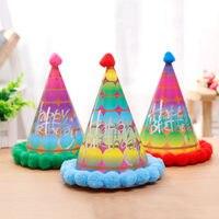 20 Pçs/set Chapéu Festivo da Festa de Aniversário chapéu de Natal Colorido Mini Chapéus De Papel chapéu de aniversário fontes do partido cor Misturada