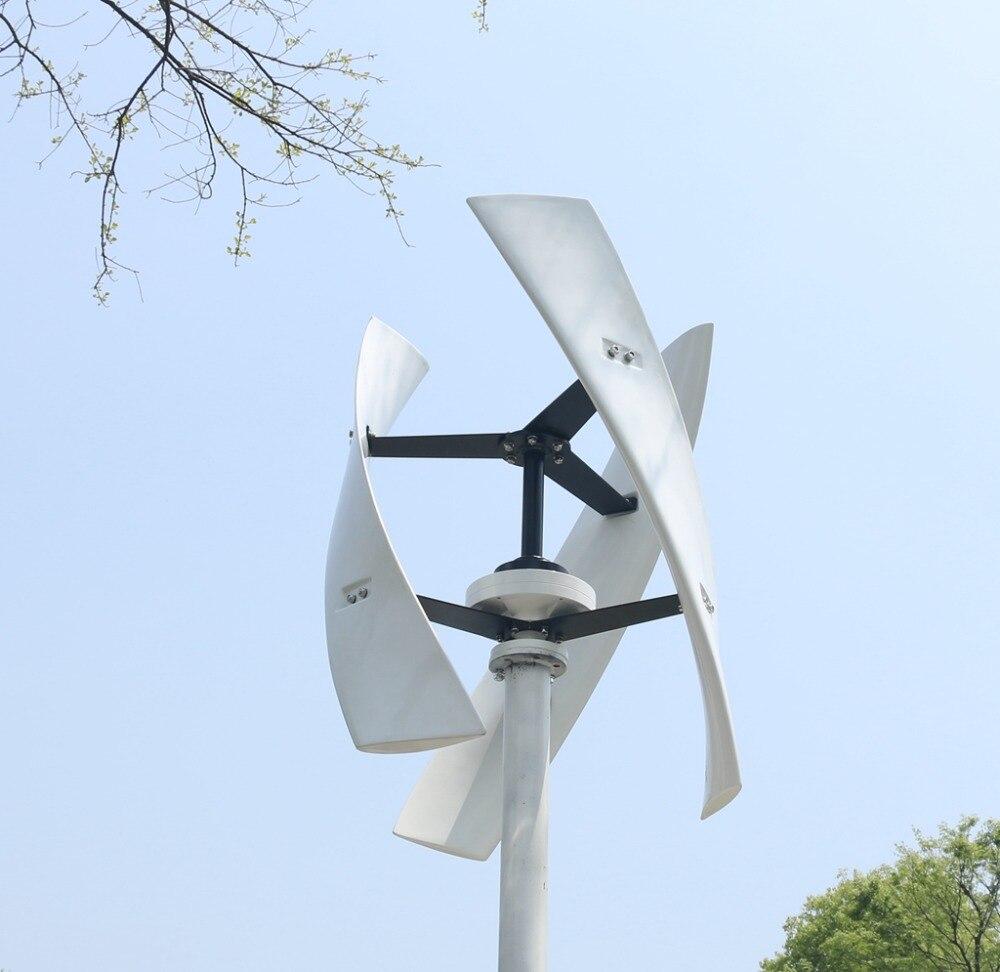 R & X 300 w/500 w energii wiatrowej generator z turbiną CE Maglev o wysokiej wydajności cicha oś pionowa Windmil wiatr słoneczny hybrydowy System