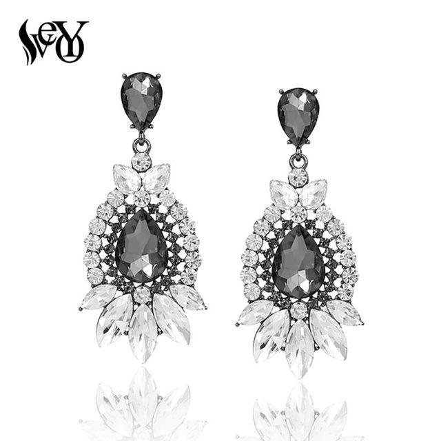 VEYO Fashion Crystal Long Wedding Drop Earrings for Woman brincos Luxury Big Rhinestone Party Earring.jpg 640x640 - VEYO Fashion Crystal Long Wedding Drop Earrings for Woman brincos Luxury Big Rhinestone Party Earring