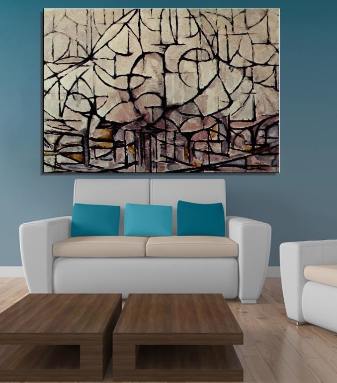 Piet Cornelies Mondrian Still life Abstract oil Painting Drawing handmade canvas painting art Unframed Canvas picture