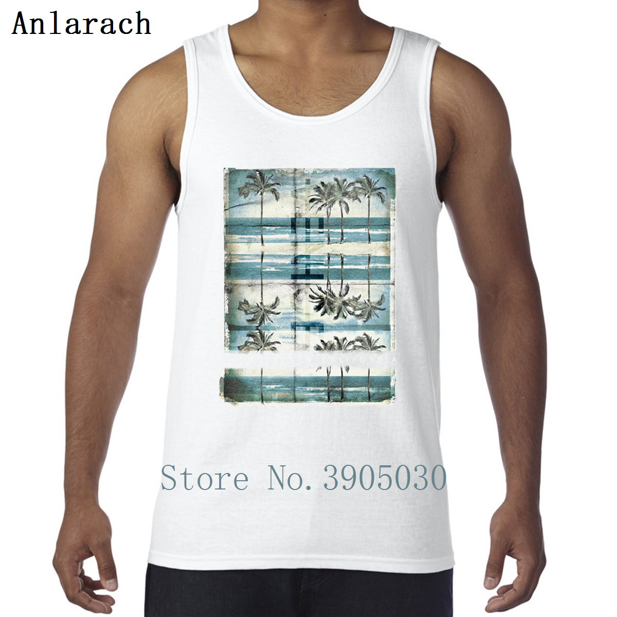 822839576fa0b2 Vintage Palm Tree Venice Summer Beach California Vest Bodybuilding Designer  Slogan Tank Top Men Round Collar Sunlight Workouts-in Tank Tops from Men s  ...