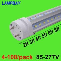 4-100/pack V geformte Led-röhre Birne 270 Winkel 2ft 0,6 m 3ft 0,9 m 4ft 1,2 m 5ft 1,5 m 6ft 1,8 m G13 Leuchtstofflampe Super Helle Lampe
