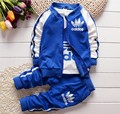 New Autumn And Winter baby boys and baby girls clothing set 3pc/set ( T-shirt+coat+pants)suit for 0-2 years baby