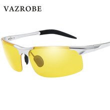 afcff343503ca Vazrobe Alumium Noite óculos de condução das mulheres dos homens  Polarizados óculos de sol para o homem anti visão brilho caso d.