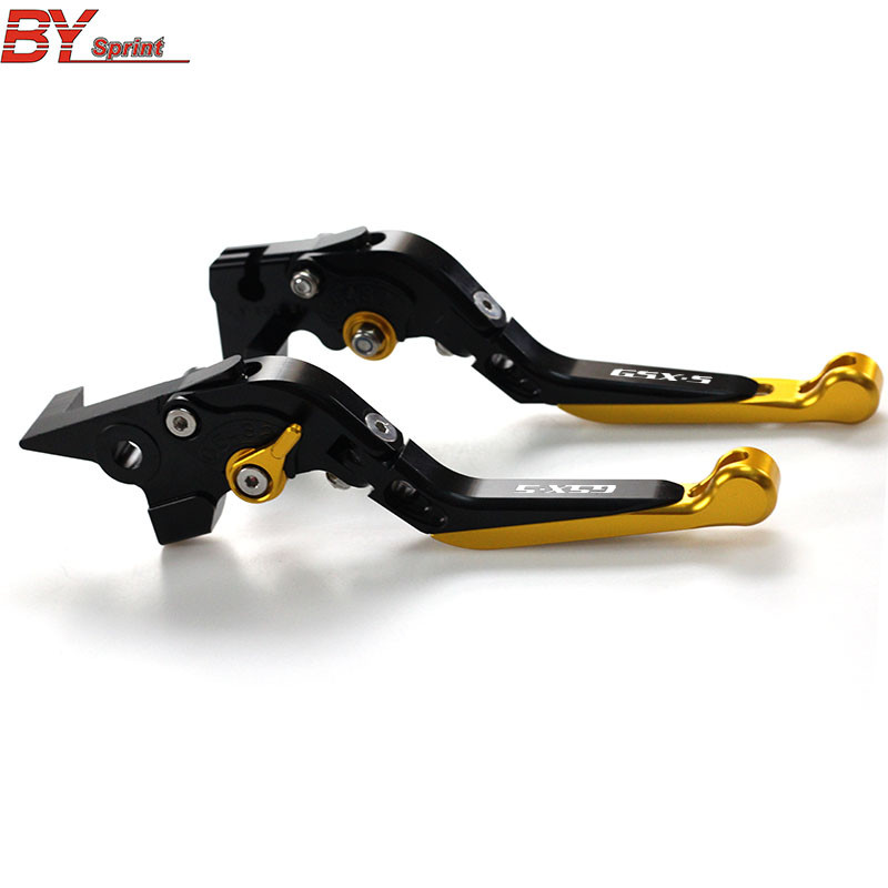 LOGO(GSX S) CNC Motorcycle Accessories Folding Extendable Clutch Brake Levers For SUZUKI GSX S 1000 GSX S 1000F 2015 2016