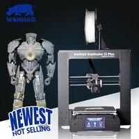 Новый wanhao i3 плюс рабочего стола Prusa 3D принтеры 3D печатная машина affordble wanhao pla abs ПВА peva 3D принтеры