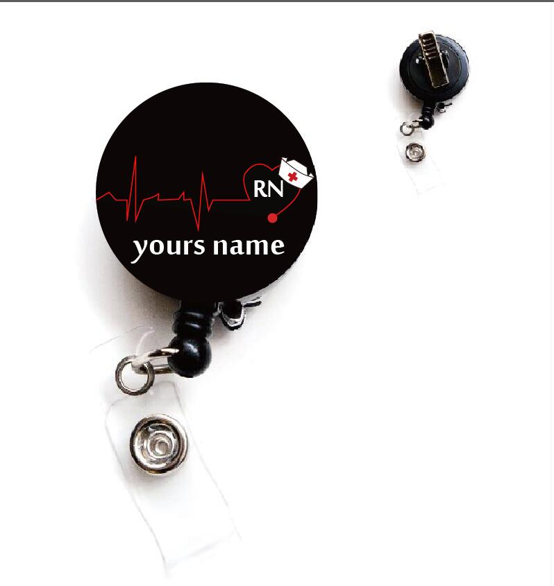 Personalized names retractable id badge reel Personalized names retractable id badge reel