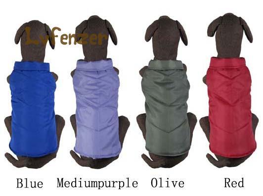 Collectie Hier Huisdier Producten Grote Hond Levert Effen Nylon Katoen Winter Warm Parka Kleding Vest