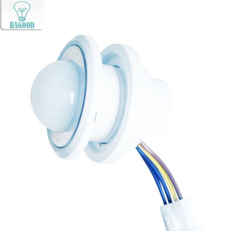 1 pcs 40mm Réglable PIR Infrarouge Ray Motion Sensor Temporisation Réglable Mode Détecteur Interrupteur Pour La Maison Éclairage LED lampe