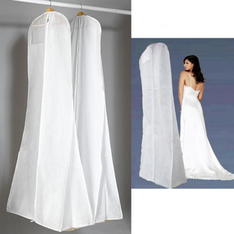 84b68ffb3bd5 US $7.25 8% OFF|Extra Large Wedding Dress Bridal Gown Non woven Dustproof  Storage Bag Garment Breathable White Protector Cover-in Clothing Covers  from ...