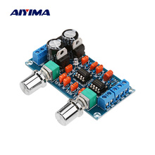 Aiyima 앰프 프리 앰프 로우 패스 필터 보드 hifi 서브 우퍼 프리 앰프 저음 볼륨 조절 기능이있는 로우 패스 필터 보드