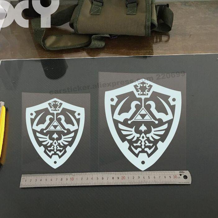 Zelda Waterproof Car Stickers And Vinyl Decals Laptop Sticker Decal Funny Vinyl Stickers (black / Silver White)