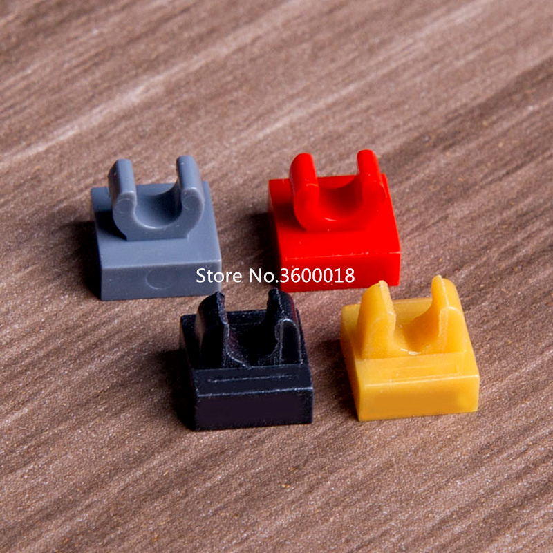 10 LEGO Parts~ Modified 1 x 1 w Clip 2555 BLACK Tile