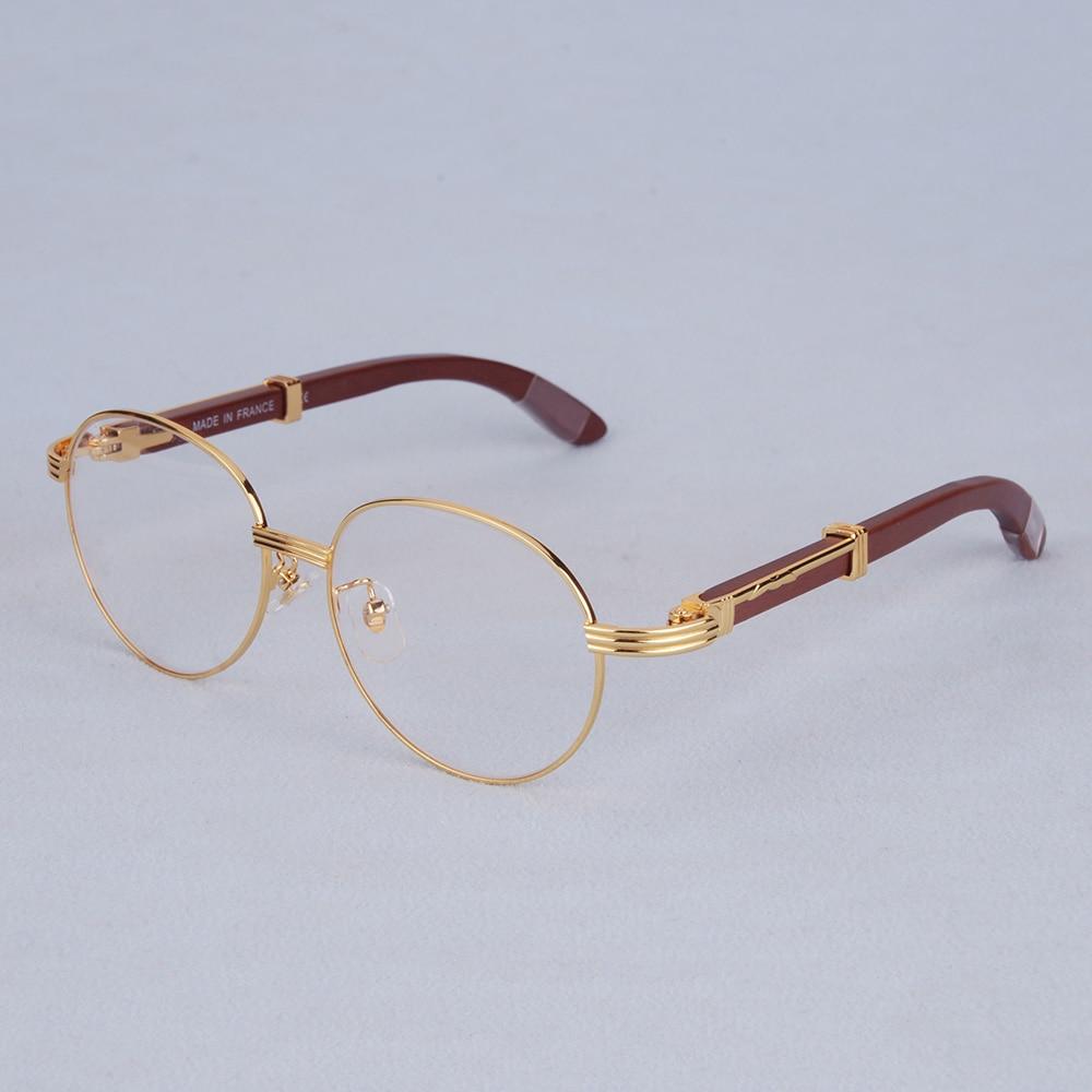 Liefdadig Vazrobe Ovale Brillen Frame Mannen Bril Man Houten Been Merknaam Goud Zilver Recept Bril Mode Lenzenvloeistof Luxe Uitgebreide Selectie;
