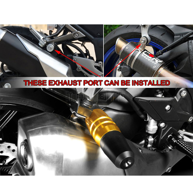 falling protectors motorcycle frame slider anti crash caps exhaust sliders for yamaha t max tmax - Motorcycle Frame
